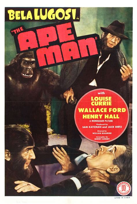 Poster for The Ape Man (1943, USA) - Wrong Side of the Art
