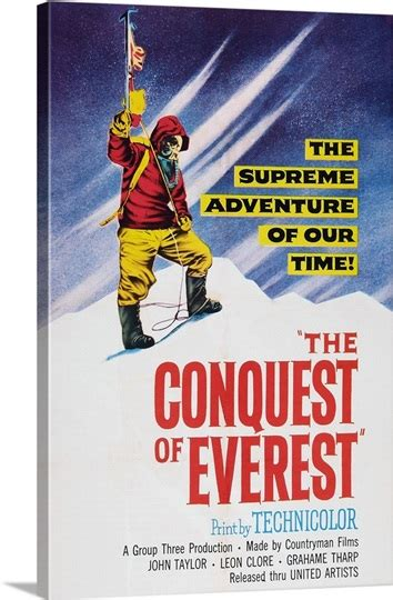 The Conquest Of Everest - Vintage Movie Poster, 1953 Photo ...