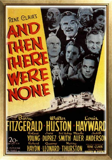 MAGNET Vintage Movie Poster AND THEN THERE WERE NONE 1945 ...