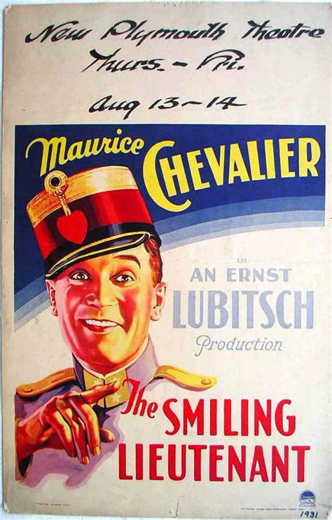 The Smiling Lieutenant Movie Posters From Movie Poster Shop