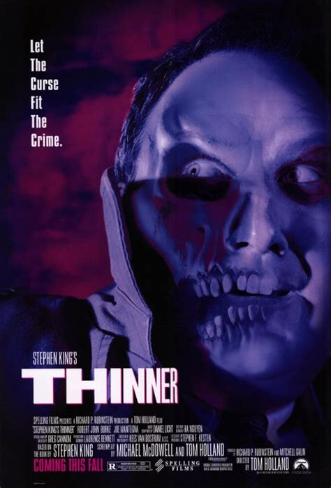 Stephen King's Thinner Movie Posters From Movie Poster Shop