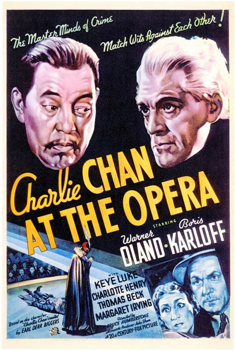 Charlie Chan at the Opera Movie Posters From Movie Poster Shop