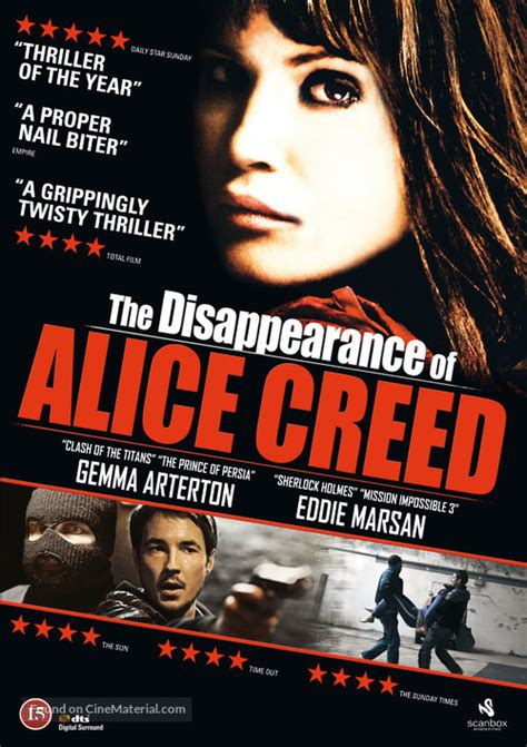 The Disappearance of Alice Creed Danish movie cover