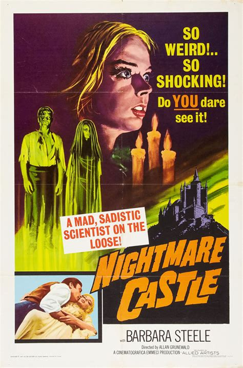 Nightmare Castle Movie Posters From Movie Poster Shop
