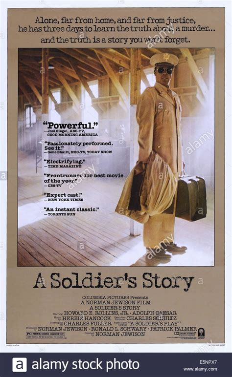 A SOLDIER'S STORY, US poster, Howard E. Rollins Jr., 1984 ...