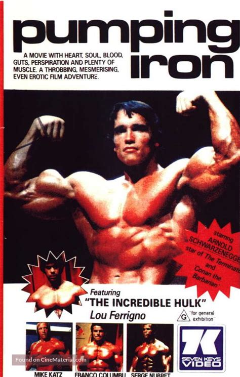 Pumping Iron Australian movie cover