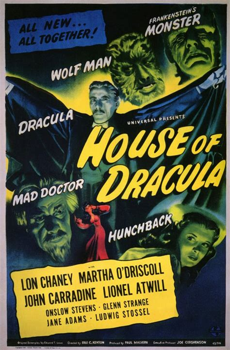 House of Dracula Movie Posters From Movie Poster Shop