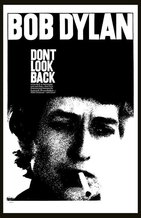 "Dylan, Bob - Bob Dylan ""Don't Look Back"" Movie Poster 1967 ..."