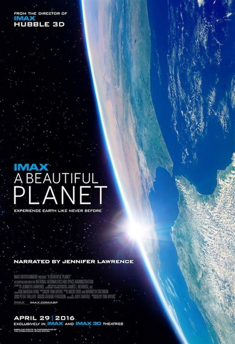 "IMAX Entertainment's ""A Beautiful Planet"" narrated by ..."