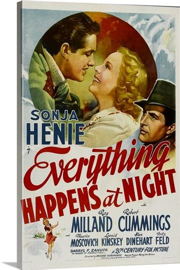 Everything Happens At Night - Vintage Movie Poster Photo ...