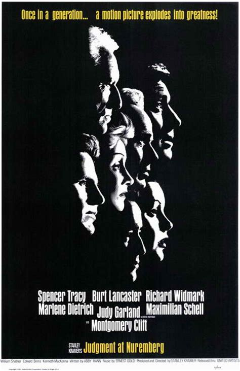 Judgment at Nuremberg Movie Posters From Movie Poster Shop