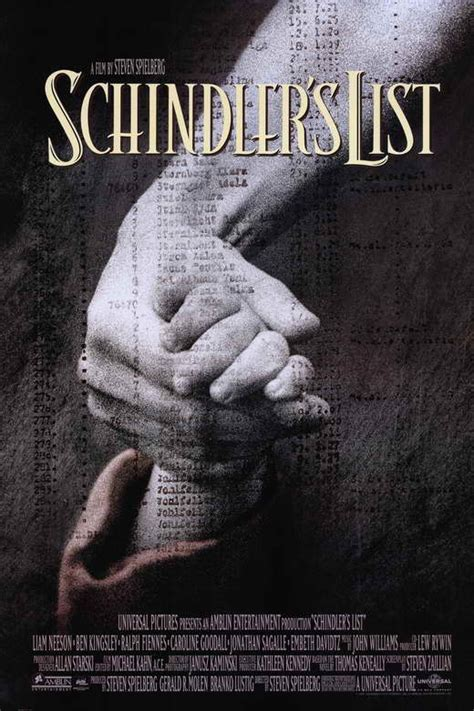 Schindler's List Movie Posters From Movie Poster Shop