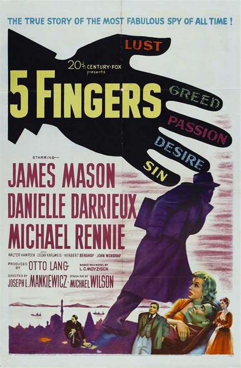 5 Fingers Movie Posters From Movie Poster Shop
